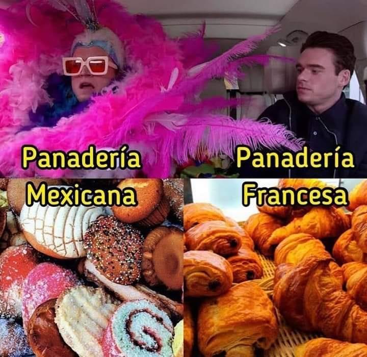meme pan mexicano y pan frances